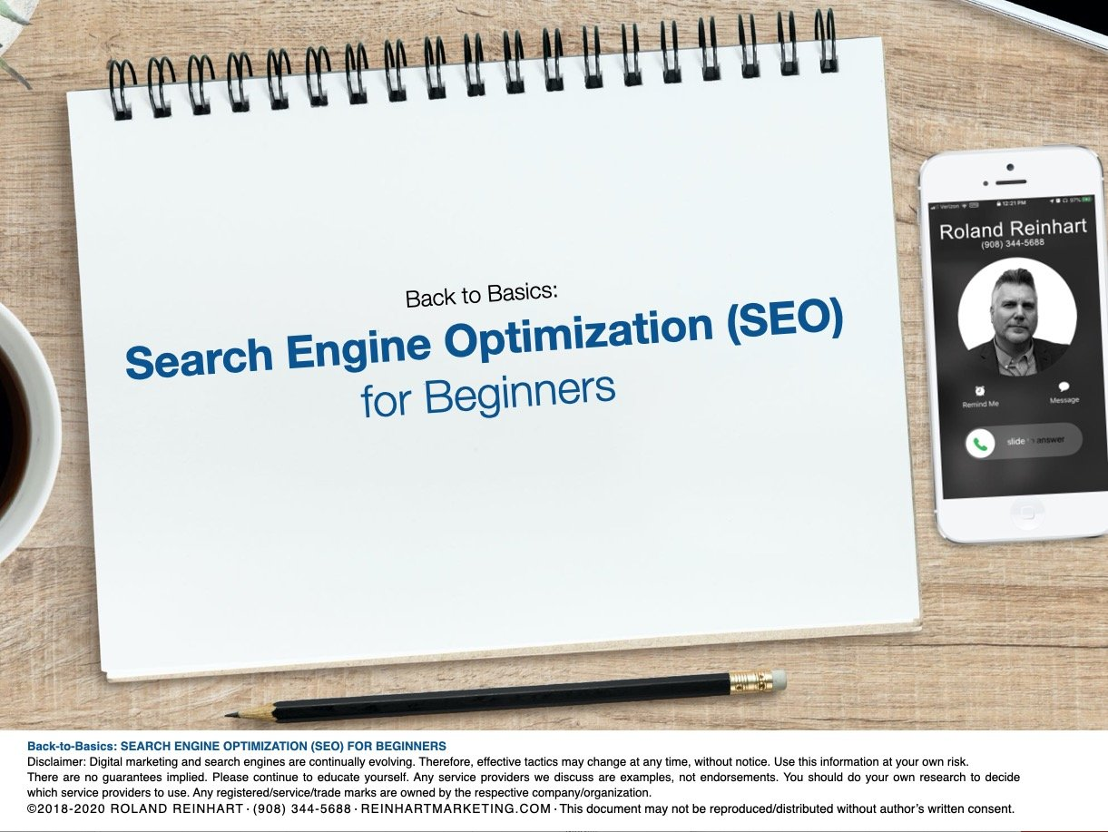 Search Engine Optimization for Beginners Cover Slide
