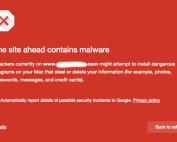 Web browser malware warning